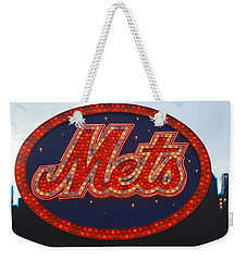 Lets Go Mets Weekender Tote Bag by Richard Bryce and Family