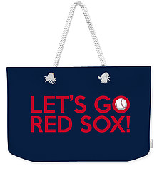 Let's Go Red Sox Weekender Tote Bag