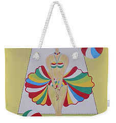 Weekender Tote Bag featuring the painting Let's Play Balls by Marie Schwarzer