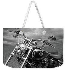 Let's Ride - Harley Davidson Motorcycle Weekender Tote Bag by Gill Billington
