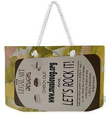 Let's Rock It Weekender Tote Bag by Silvana Vienne