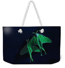 Weekender Tote Bag featuring the photograph Let's Swim To The Moon by Susan Capuano