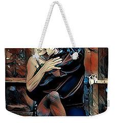 Weekender Tote Bag featuring the digital art Let's Tango by Pennie McCracken