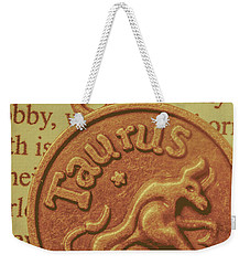 Letter Of Zodiac Taurus Weekender Tote Bag