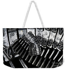 Letters Weekender Tote Bag by Michal Boubin