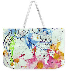Weekender Tote Bag featuring the mixed media Letting Go by Julie Hoyle