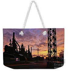 Weekender Tote Bag featuring the photograph Levitt Pavilion by DJ Florek