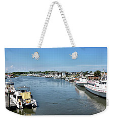 Weekender Tote Bag featuring the photograph Lewes Delaware by Brendan Reals