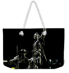 Lewis And Clark Arrive At Laclede's Landing Weekender Tote Bag by Kelly Awad