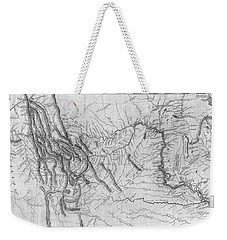 Lewis And Clark Hand-drawn Map Of The Unknown 1804 Weekender Tote Bag