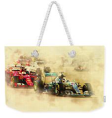 Lewis Hamilton Leads Again Weekender Tote Bag