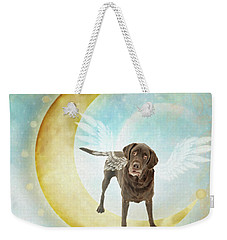 Weekender Tote Bag featuring the digital art Liam by Sue Collura