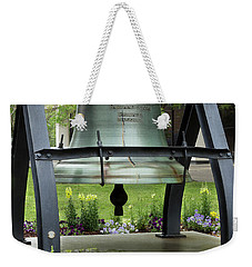 Weekender Tote Bag featuring the photograph Liberty Bell Replica by Mike Eingle