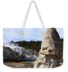 Liberty Cap At Mammoth Hot Springs Weekender Tote Bag