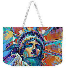 Liberty In Color Weekender Tote Bag by Damon Gray