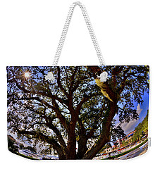 Weekender Tote Bag featuring the photograph Liberty Oak Harbour Town Hilton Head Sc by Lisa Wooten