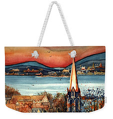 Liberty's Light - Newburgh Ny Weekender Tote Bag by Janine Riley