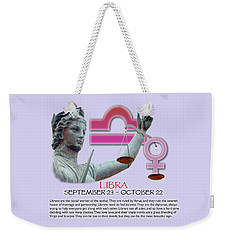 Libra Sun Sign Weekender Tote Bag