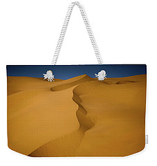 Weekender Tote Bag featuring the photograph Libya Dunes by Ibrahim Azaga