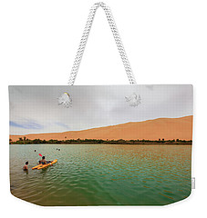 Weekender Tote Bag featuring the photograph Libyan Oasis by Ibrahim Azaga