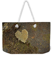 Weekender Tote Bag featuring the photograph Lichen Love by Mike Eingle
