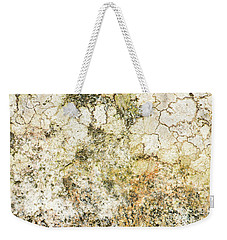 Weekender Tote Bag featuring the photograph Lichen On A Stone, Background by Torbjorn Swenelius