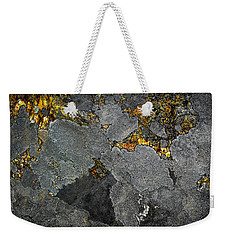 Lichen On Granite Rock Abstract Weekender Tote Bag