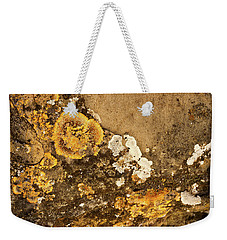 Weekender Tote Bag featuring the photograph Lichen On The Piran Walls by Stuart Litoff