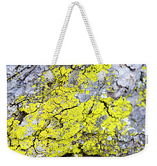 Weekender Tote Bag featuring the photograph Lichen Pattern by Christina Rollo