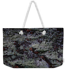 Weekender Tote Bag featuring the photograph Lichen Texture by Nareeta Martin