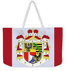 Weekender Tote Bag featuring the drawing Liechtenstein Coat Of Arms by Movie Poster Prints