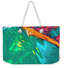 Weekender Tote Bag featuring the painting Lies Beneath by Dominic Piperata