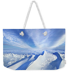Weekender Tote Bag featuring the photograph Life Below Zero by Phil Koch