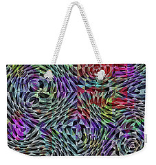 Weekender Tote Bag featuring the digital art Life Currents by Mimulux patricia no No