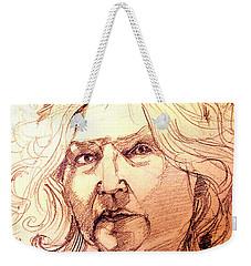 Life Drawing Sepia Portrait Sketch Medusa Weekender Tote Bag
