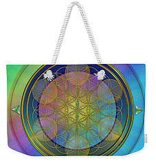 Weekender Tote Bag featuring the digital art Life Flower by Vincent Autenrieb