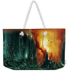 Weekender Tote Bag featuring the digital art Life Form Ends by Linda Sannuti