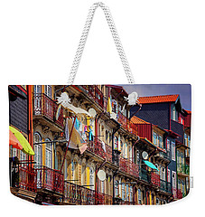 Weekender Tote Bag featuring the photograph Life In Ribeira Porto  by Carol Japp
