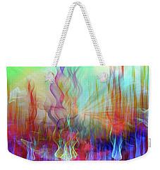 Weekender Tote Bag featuring the digital art Life Is A Beautiful Mystery by Linda Sannuti