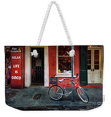 Weekender Tote Bag featuring the photograph Life Is Good Bicycle by Craig J Satterlee