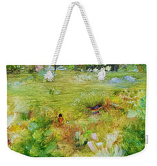 Weekender Tote Bag featuring the painting Life Lessons by Judith Rhue