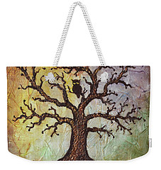 Weekender Tote Bag featuring the painting Life Of Wisdom by Agata Lindquist