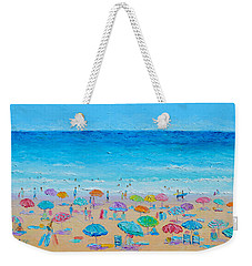 Life On The Beach Weekender Tote Bag by Jan Matson