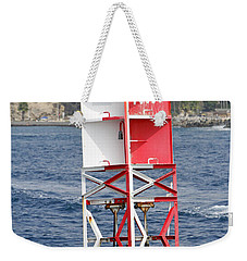 Weekender Tote Bag featuring the pyrography Life On The Buoy  by Shoal Hollingsworth