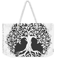 Weekender Tote Bag featuring the digital art Life Tree. Life Is Like A Tree by Gina Dsgn