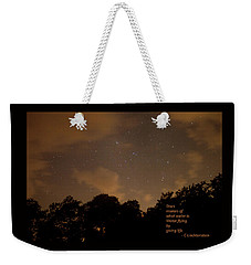 Weekender Tote Bag featuring the photograph Life, Water And Stars by Carolina Liechtenstein