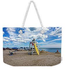 Lifeguard At Pike's Beach Weekender Tote Bag