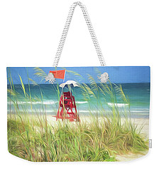 Weekender Tote Bag featuring the photograph Lifeguard Georgia by Linda Olsen