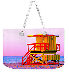 Lifeguard Stand Miami Beach Weekender Tote Bag