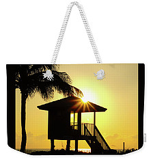 Lifeguard Station Sunburst Delray Beach Florida Weekender Tote Bag